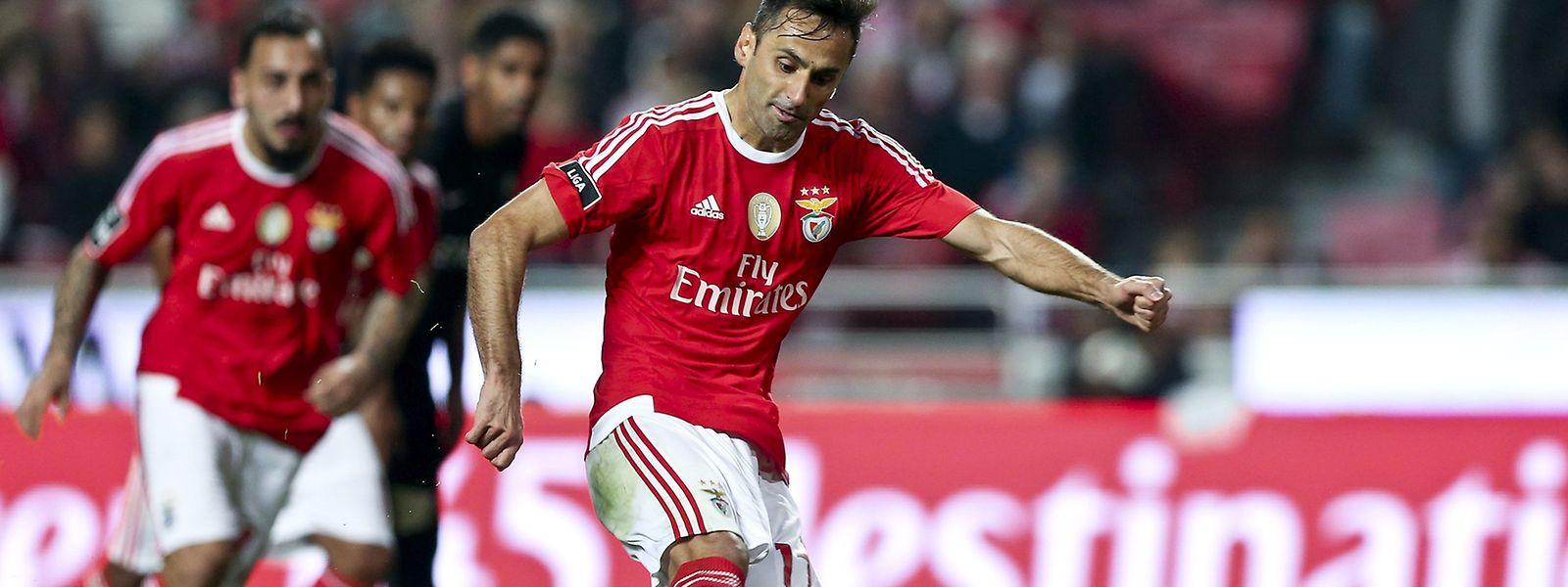 Jonas deverá ser um dos ausentes da equipa titular dos encarnados frente ao Sporting de Braga