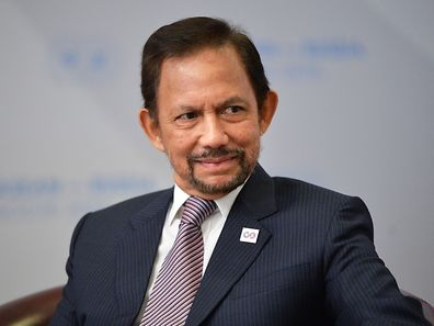 Le sultan Hassanal Bolkiah: belle prestance en costume occidental comme en tenue d'apparat.