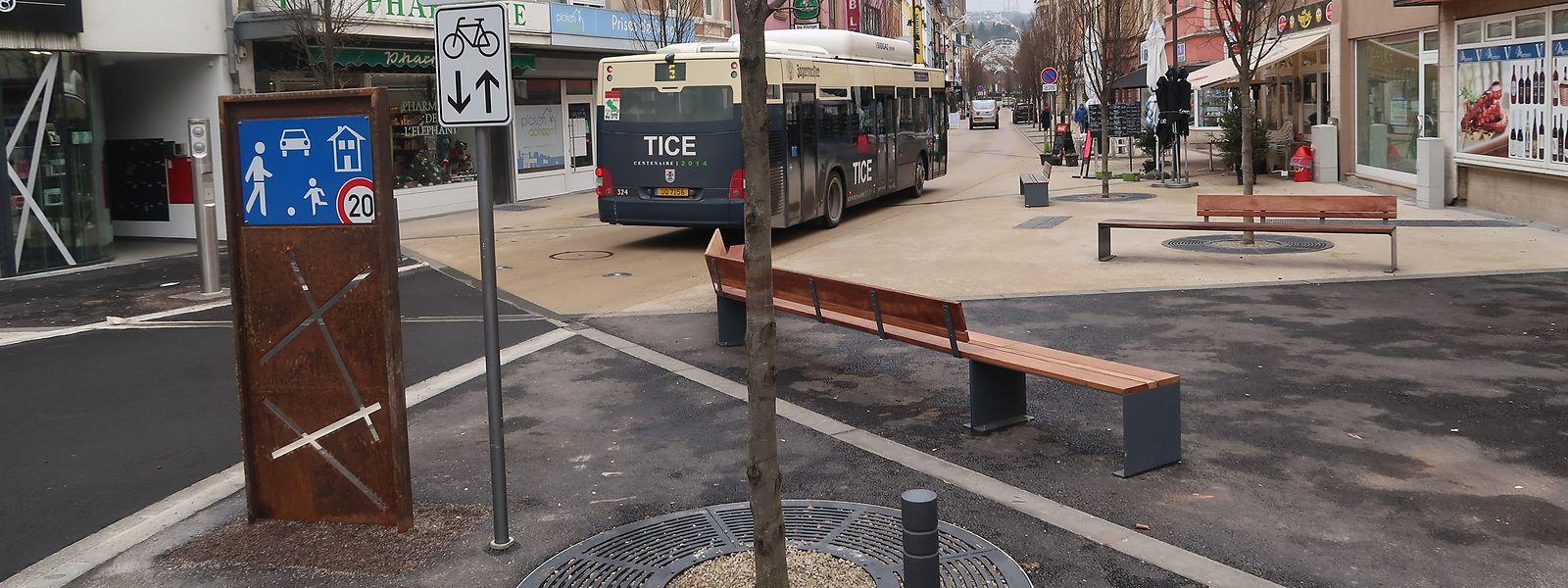 Seit dem 28. Dezember ist die Durchfahrt der Avenue Grande Duchesse Charlotte in Düdelingen wieder erlaubt.