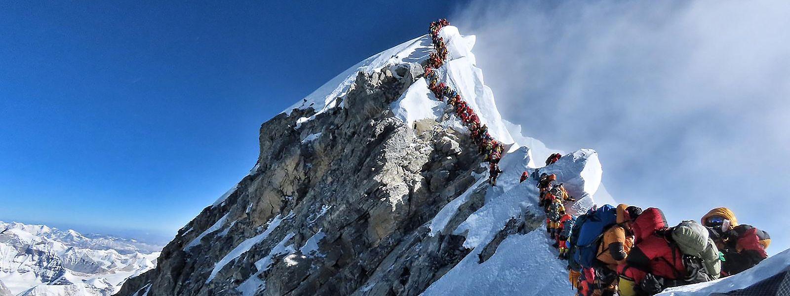 Der Mount Everest wurde seit 1953 von 5000 Menschen bestiegen.