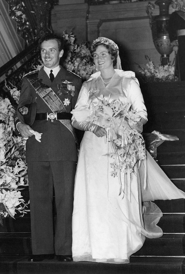Die Hochzeit von Prinzessin Alix und Prinz Antoine de Ligne am 17. August 1950.
