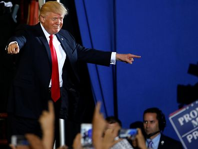 """""""Medienunternehmen wie CNN und MSNBC sind Fake News"""", sagte der amerikanische Präsident."""