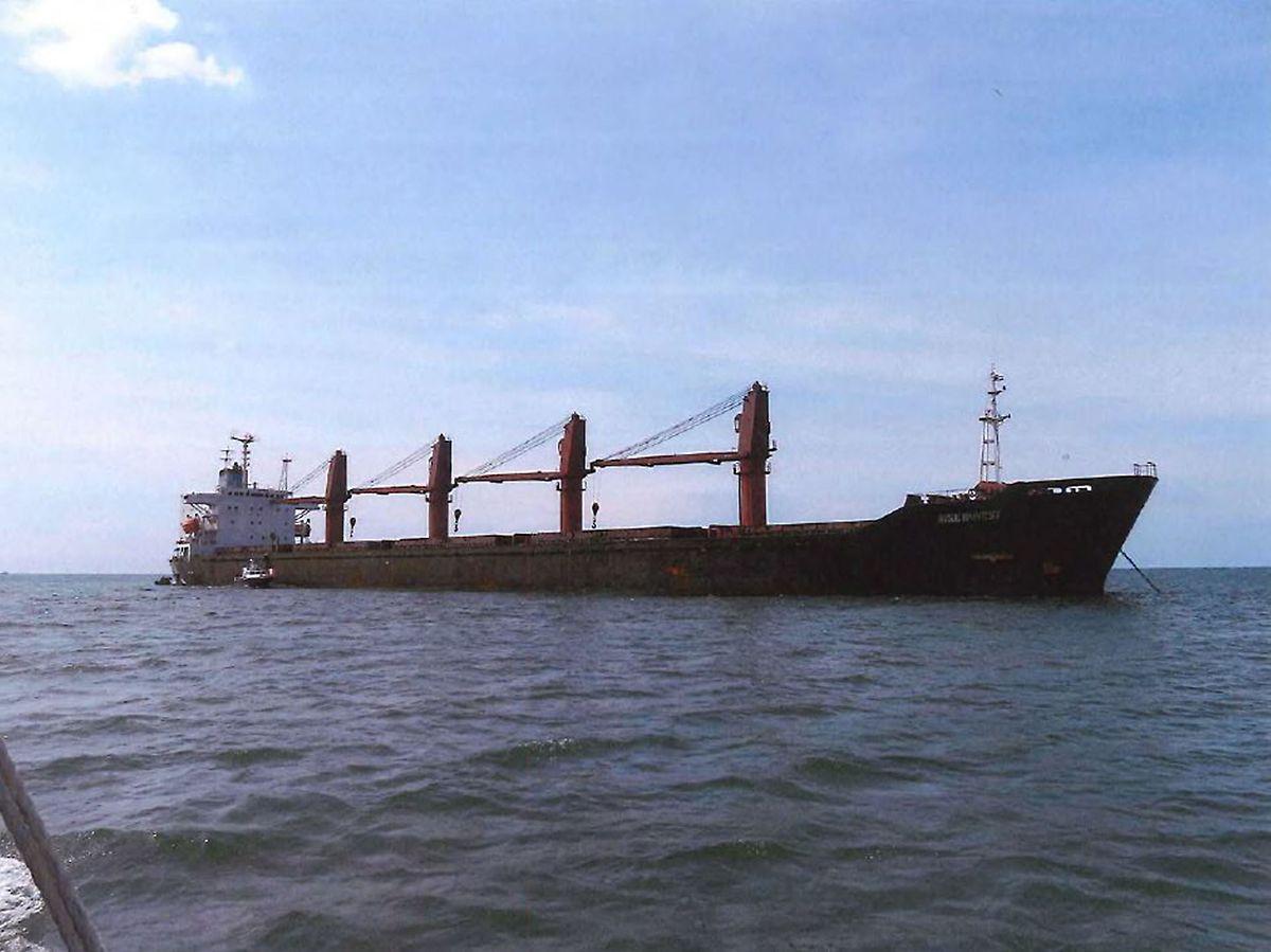"""Der Frachter """"Wild Honest"""" befinde sich  in US-Gewahrsam und ist den Angaben zufolge auf dem Weg in US-Hoheitsgewässer. Es ist laut dem US-Justizministerium das erste Mal, dass die US-Behörden zu so einem Schritt griffen."""