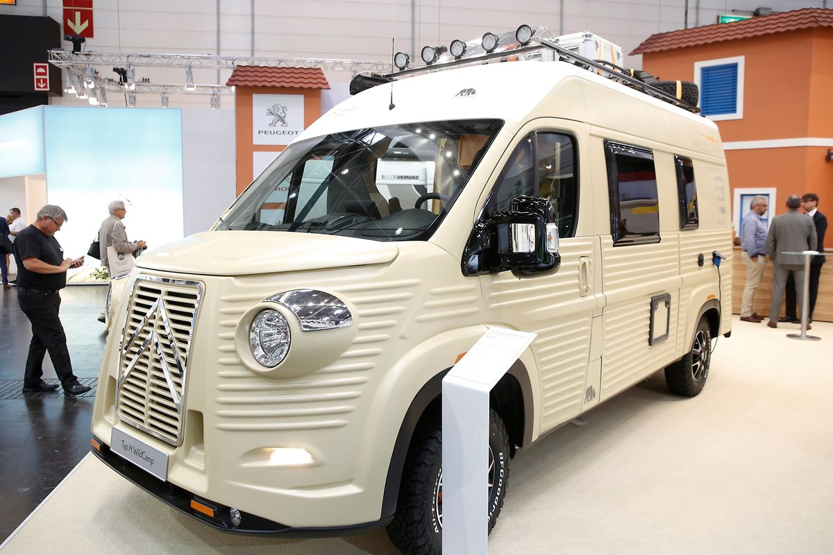 Erinnerung an gute alte Zeiten weckt der mit modernem Komfort ergänzte Van Typ H Wildcamp von Citroën.