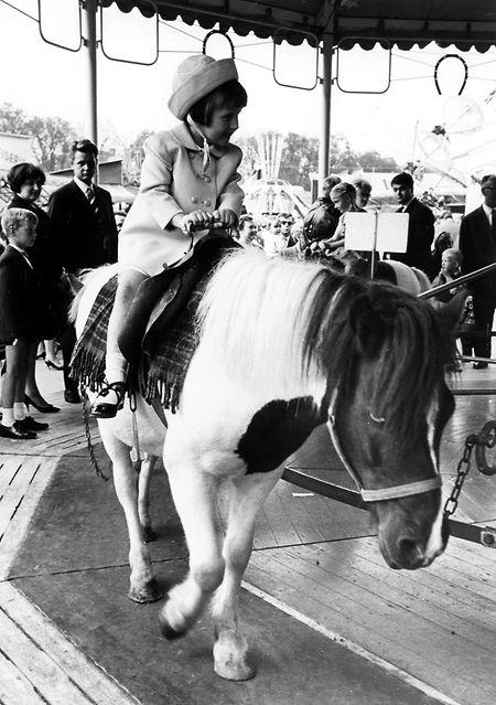 Les poneys sur le champ de foire au début des années 1960