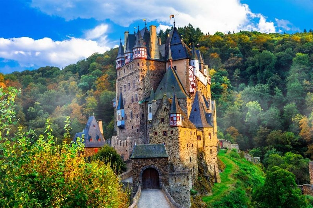 The medieval Eltz Castle is nestled in the hills above the Moselle River between Koblenz and Trier Photo: Shutterstock