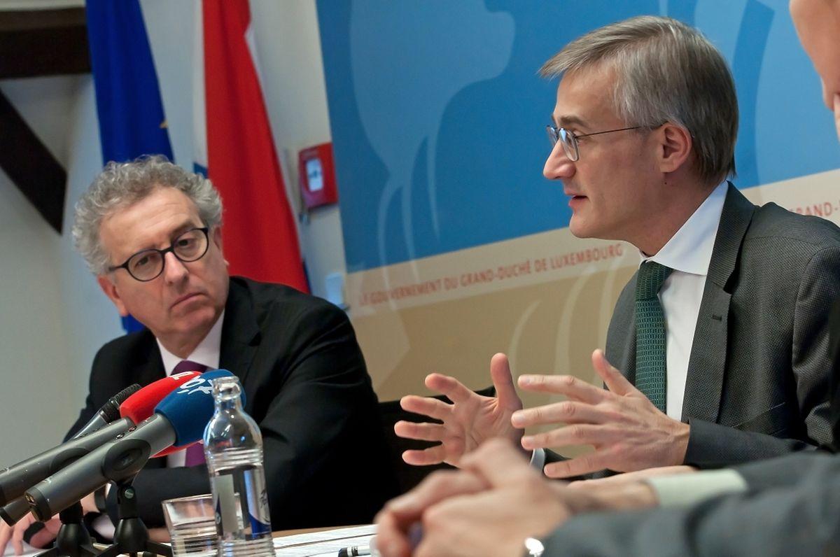 Finanzminister Pierre Gramegna und Justizminister Braz stellten Gesetzesentwürfe vor, die zwei neue Register einführen.