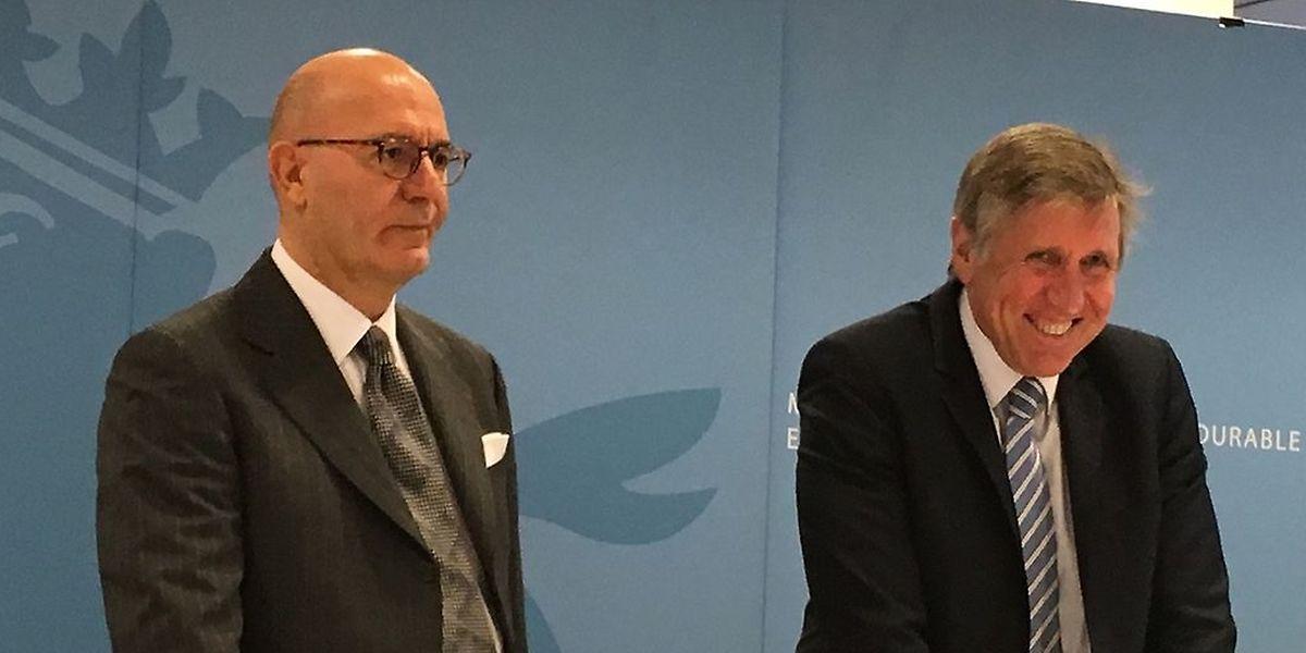 Giovanni Giallombardo aux côtés de François Bausch, ministre de la Mobilité.