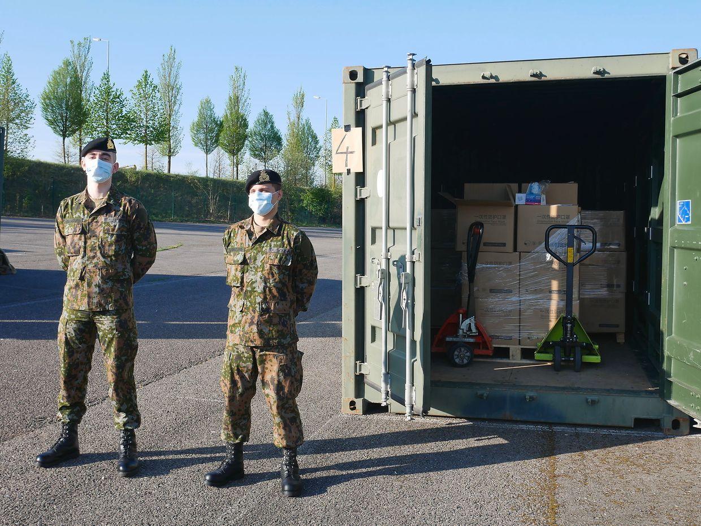 A l'armée luxembourgeoise, le soin de garder les précieux masques et de les attribuer aux bénéficiaires désignés par la Chambre des métiers