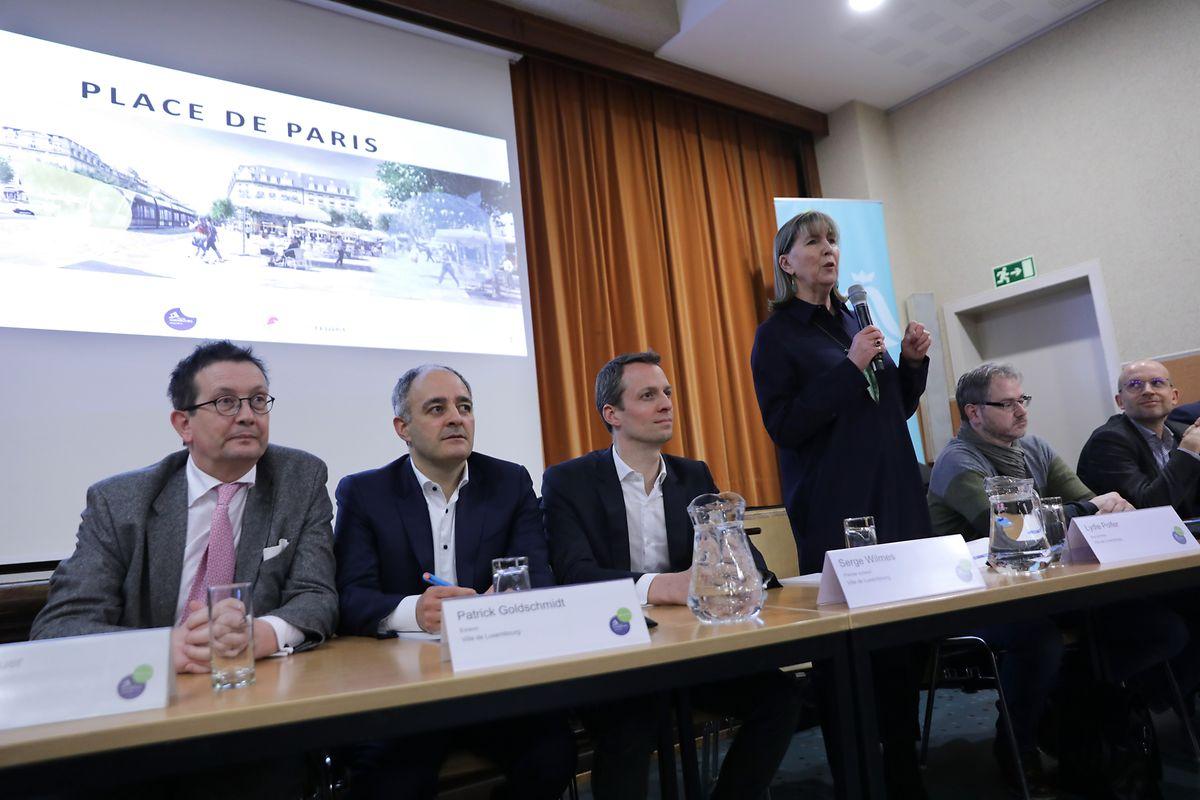 Der hauptstädtische Schöffenrat und die Verantwortlichen von Luxtram präsentierten das Vorhaben.
