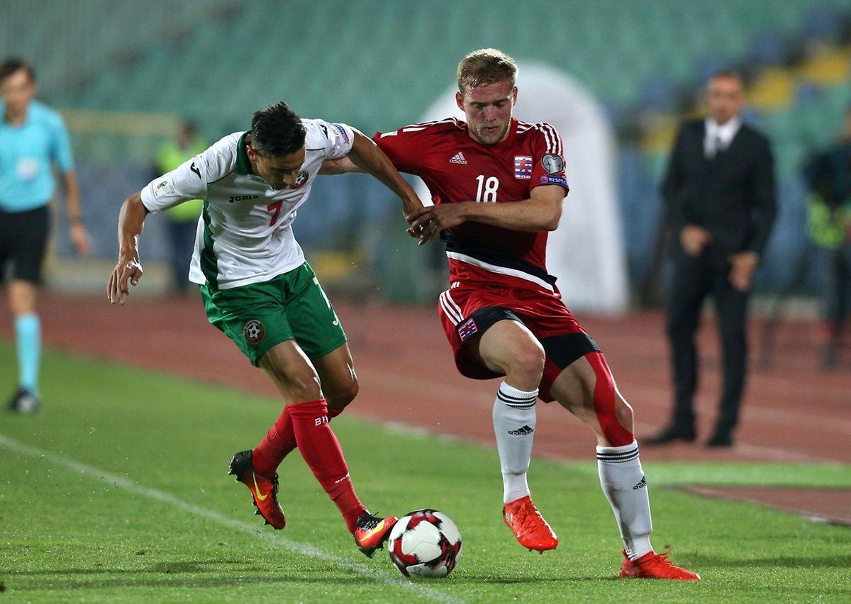 Laurent Jans au duel, le défenseur de Waasland s'est mué en passeur génial sur le troisième but luxembourgeois.