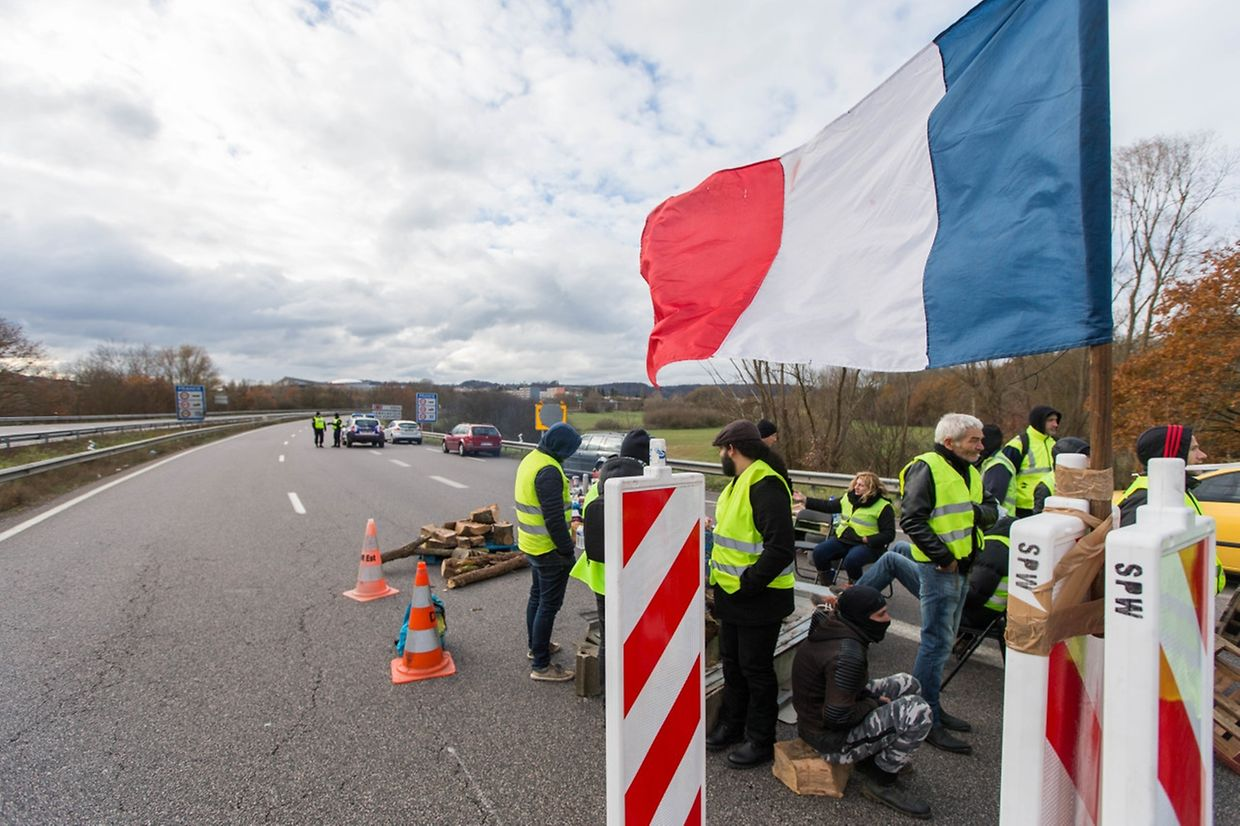 Manifestation Gilet Jaunes, France, A28 Mont Saint Martin, Demonstration, Foto: Lex Kleren/Luxemburger Wort
