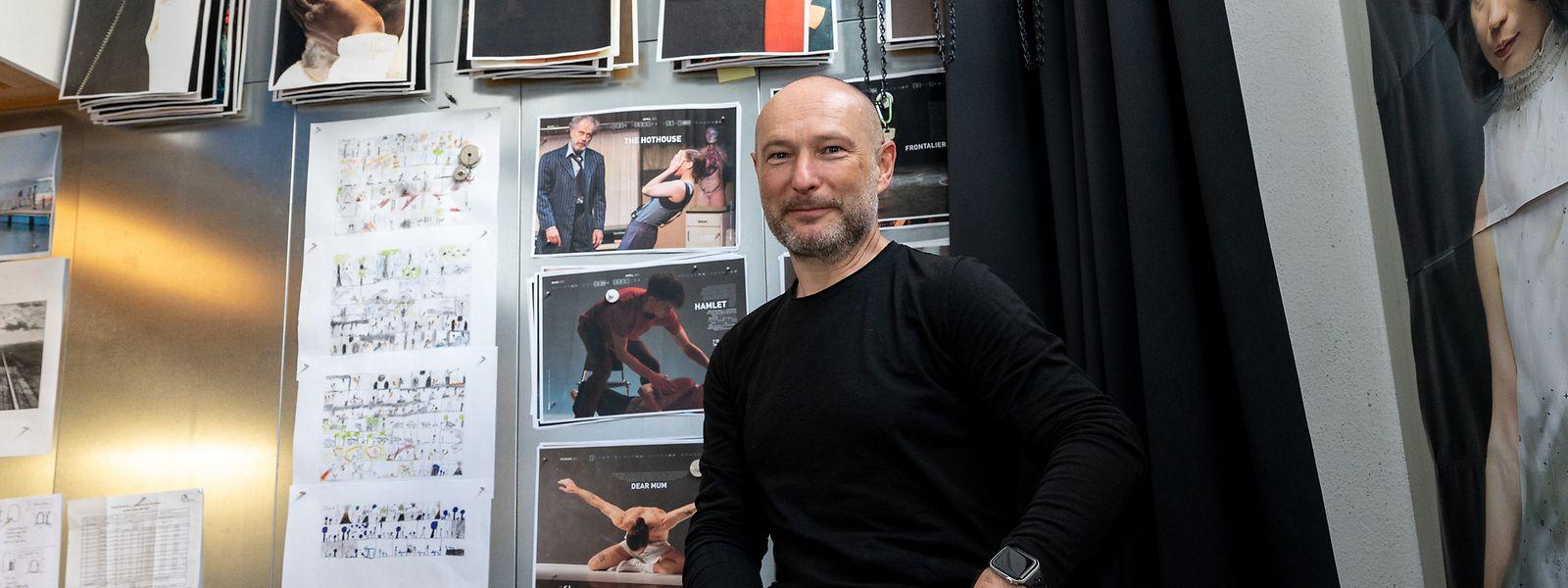 Le photographe dans son atelier du Rollingergrund.