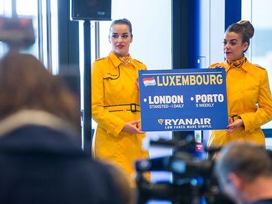 Ab dem 1. September fliegt Ryanair einmal täglich vom Findel nach London-Stansted und fünfmal wöchentlich nach Porto.