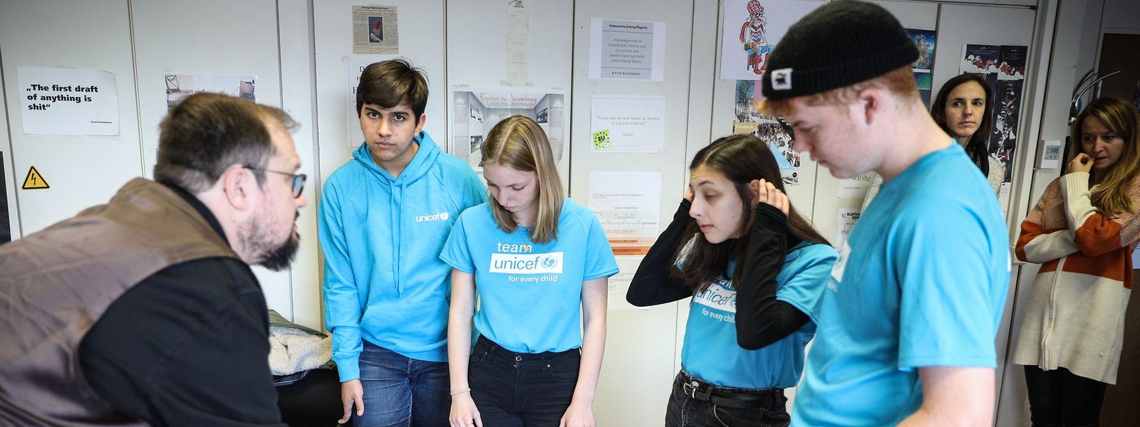 Politik, UNICEF Weltkindertag, Schüler in der Luxemburger Wort Redaktion, Foto: Guy Wolff/Luxemburger Wort