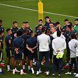 Le coach brésilien Tite au milieu de ses hommes. Le Brésil joue gros sur cette Copa America.