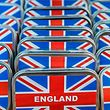 "A picture taken on March 27, 2019 shows boxes of mints sporting the Union Jack displayed at the ""Broken English"" shop, which sells British goods in Berlin's leafy district of Kreuzberg. - The owner of ""Broken English"", Dale Carr, who now holds a German passport, will be closing her shop that specialises in British products, at the end of May, after a 24-year-run in the German capital. (Photo by John MACDOUGALL / AFP)"