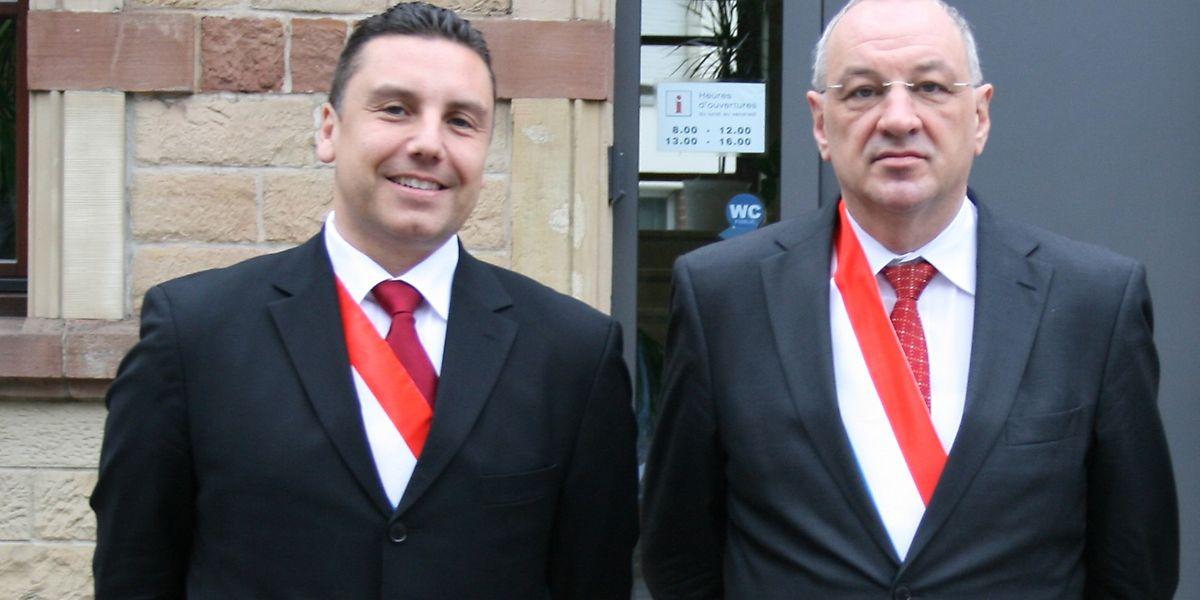 Jérôme Laurent (links) übernimmt die Nachfolge von Bürgermeister Gust Stefanetti.