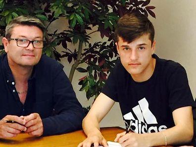 Vincent Thill (r.) mit seinem Vater Serge.