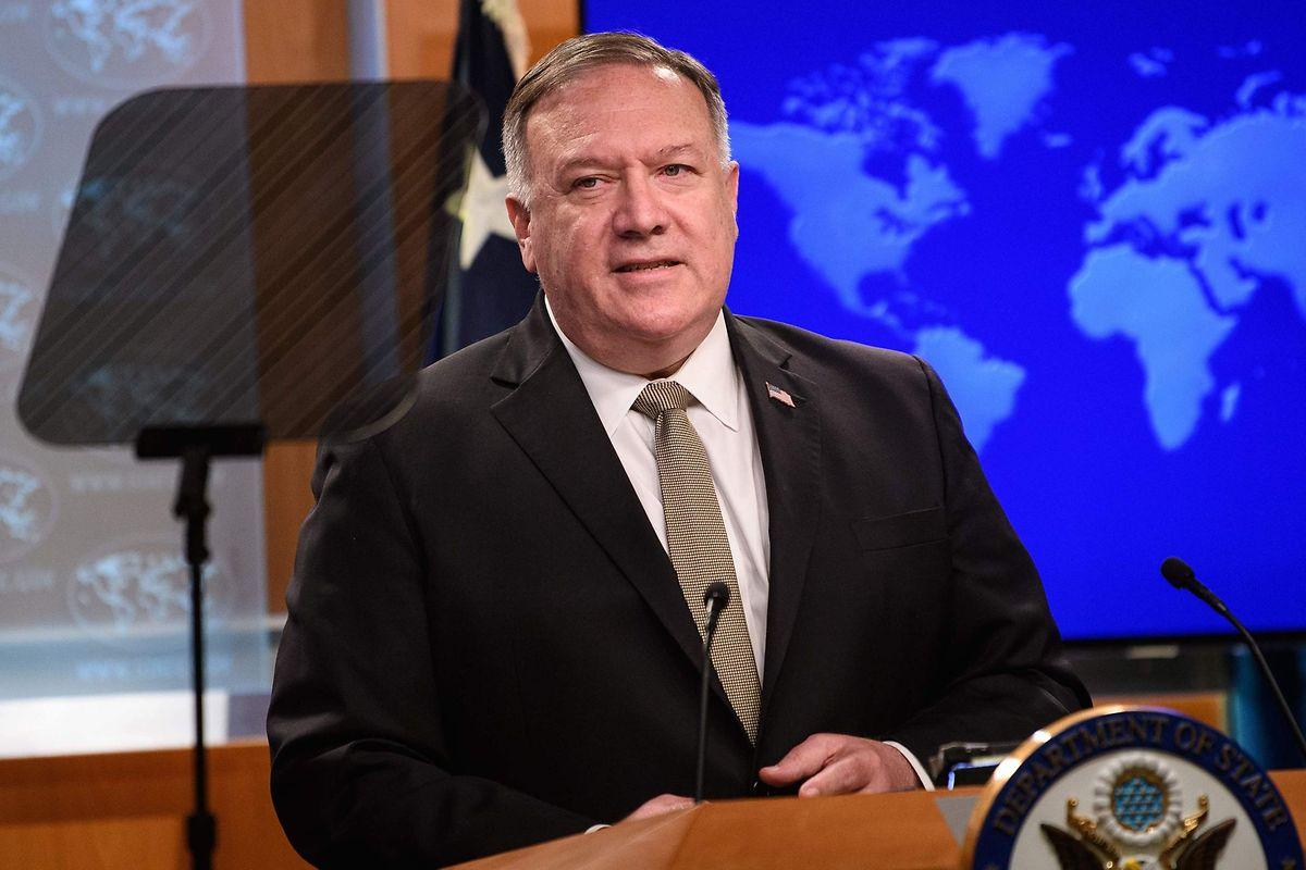 US-Außenminister Mike Pompeo bei einem Pressetermin Anfang September.