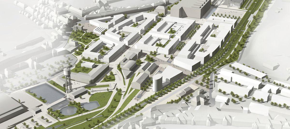 Le projet du futur écoquartier.