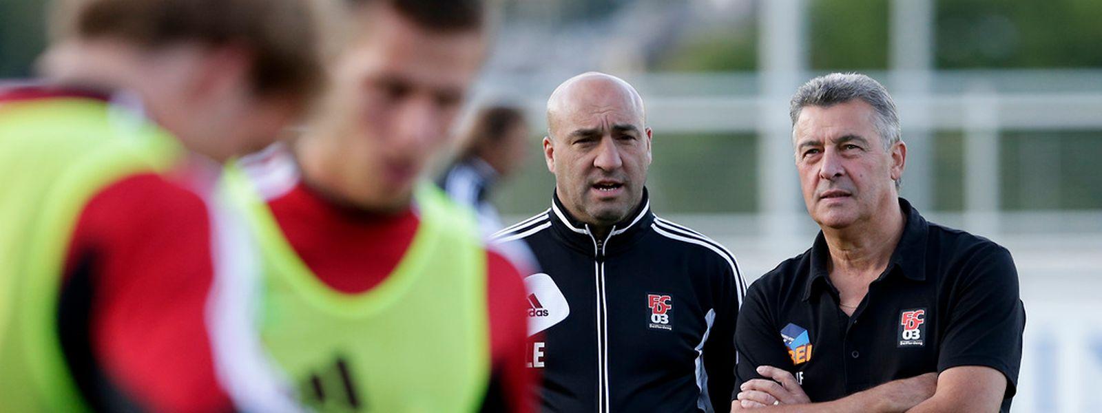 Michael Leflochmoan und Emilio Lobo werden beim Pokalfinale am Freitag letztmals für Differdingen auf der Trainerbank sitzen.