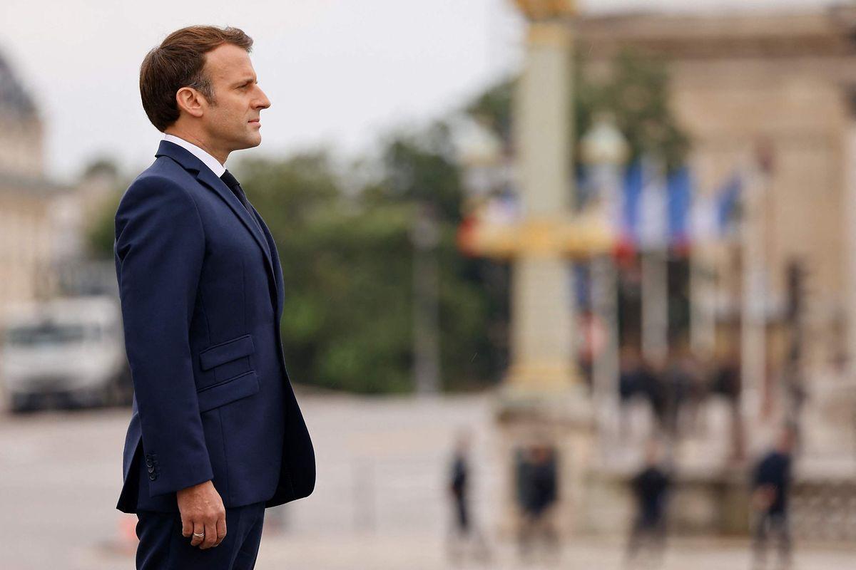 Emmanuel Macron am Mittwoch während der traditionellen Militärparade auf den Champs-Élysées.