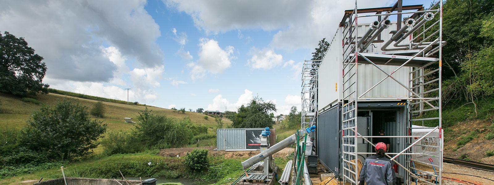 """Installation der ersten verkauften Anlage von """"Ama Mundu Technologies"""" in Luxemburg,  Foto Lex Kleren"""