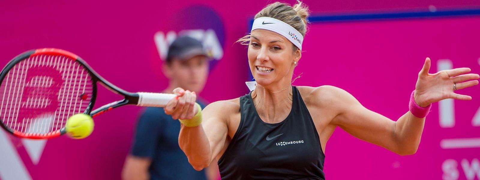 Mandy Minella stand am Sonntag im WTA-Finale von Gstaad.