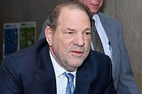 "(FILES) In this file photo taken on February 24, 2020 Harvey Weinstein arrives at the Manhattan Criminal Court, in New York City. - Harvey Weinstein's sex crimes conviction was a ""great victory"" for women, US President c (Photo by Angela Weiss / AFP)"