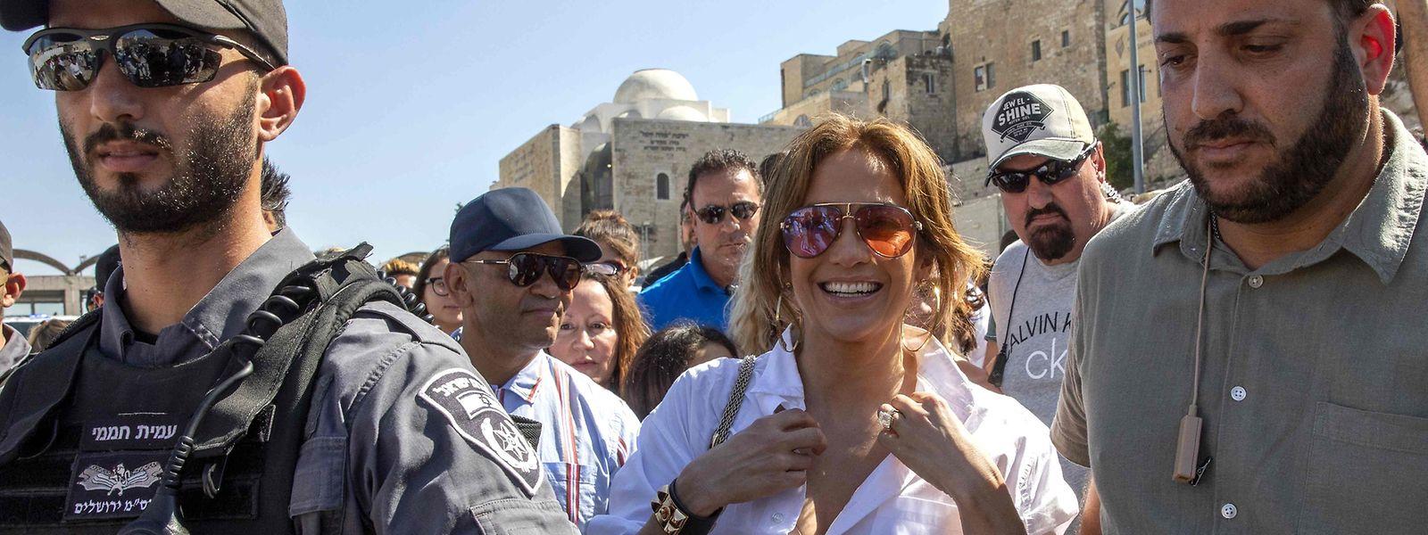 Anfang August: Jennifer Lopez zu Besuch in Jerusalem. Am 8. August tritt sie in Ägypten auf.