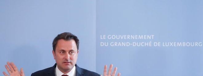 """Premier Xavier Bettel: """"Wir  zwingen niemandem etwas auf, wir regen an!"""""""