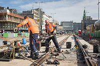 Lokales, Stadt: Weiterverfolgung Arbeiten Tram auf der Gare, Foto: Lex Kleren/Luxemburger Wort