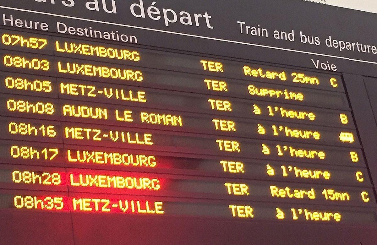 En général, les trains partent de Thionville à l'heure... mais ce 27 octobre était l'exception censée confirmer la règle.