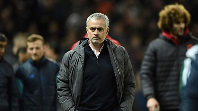 Mourinho at the Old Trafford stadium in Manchester.