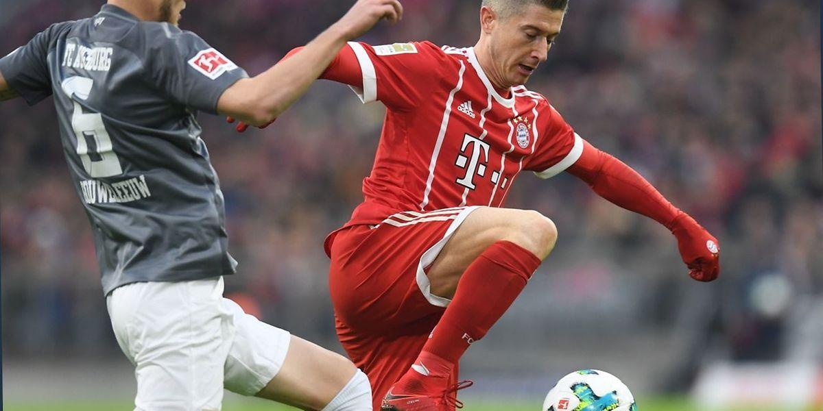 Bayern-Stürmer Robert Lewandowski erzielte einen Doppelpack.