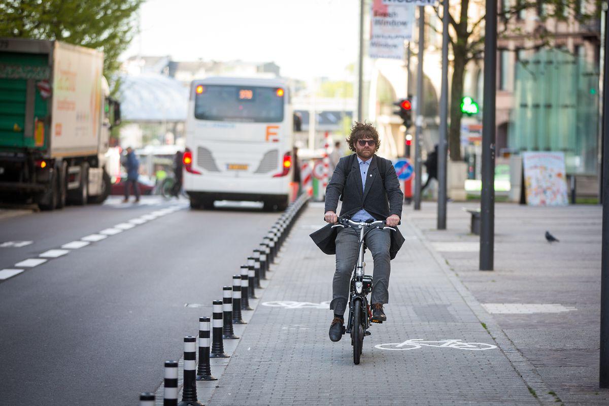 Der neue Radweg soll Radfahrern einen sicheren Weg vom Bahnhof zur Oberstadt ermöglichen.