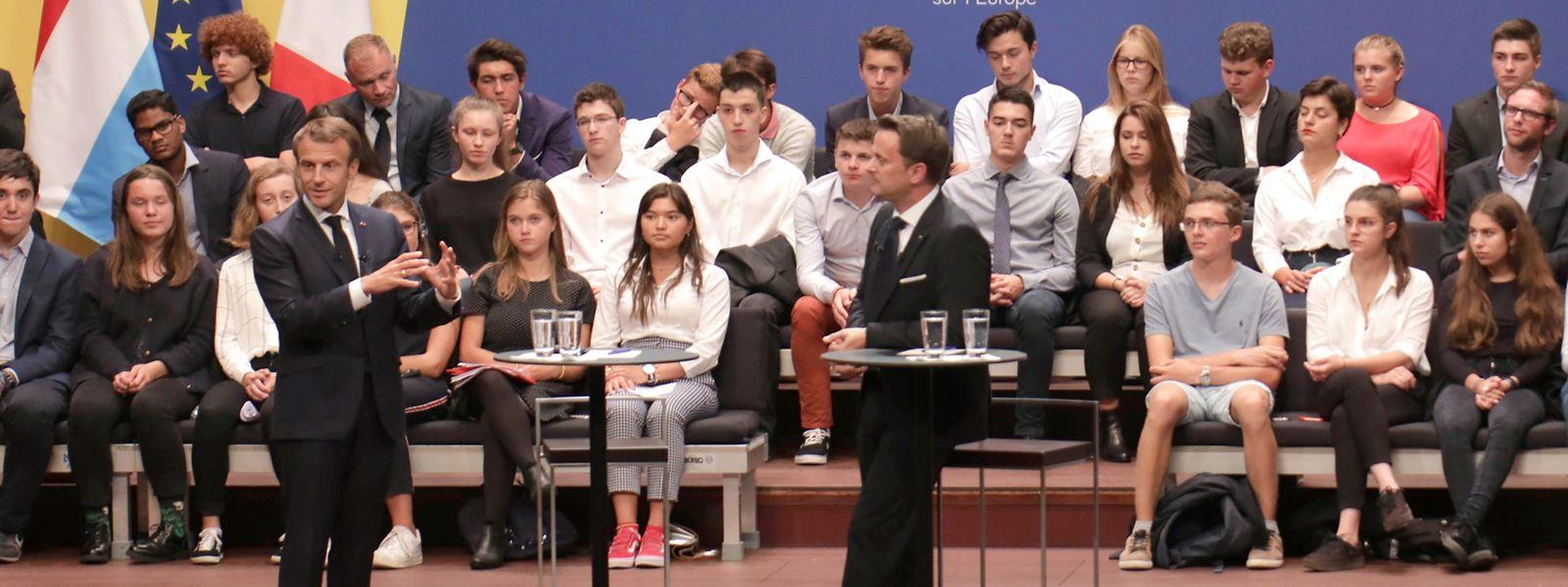 Emmanuel Macron und Xavier Bettel in der Philharmonie: Europa als Wahlkampfkulisse?