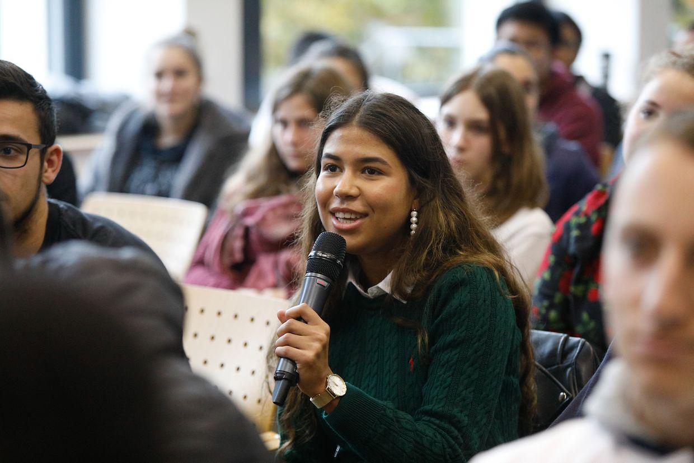 Ginette Kolinka a témoigné jeudi face aux élèves du Lycée Michel Lucius.