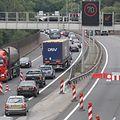 L'A1 lundi 28 juillet 2014, entre la Croix de Gasperich et Irrgarten