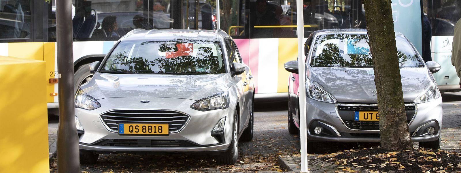 An der Station an der Place de Nancy können zwei Carloh-Fahrzeuge gemietet werden.