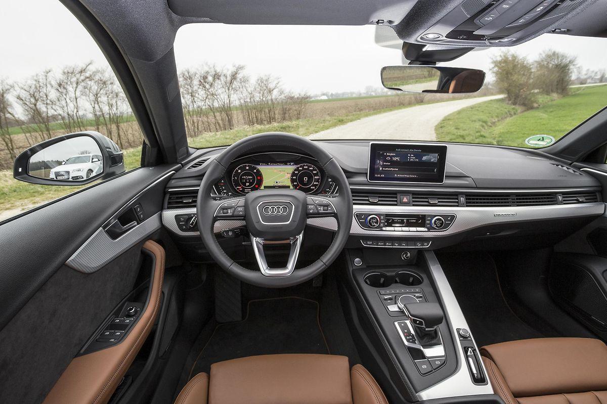 Mit einem großzügigen Raumgefühl wartet das Interieur des Audi A4 allroad mit seiner horizontalen Linienführung auf.