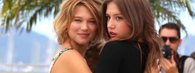 """As duas actrizes principais do filme """"La Vie d'Adèle"""""""