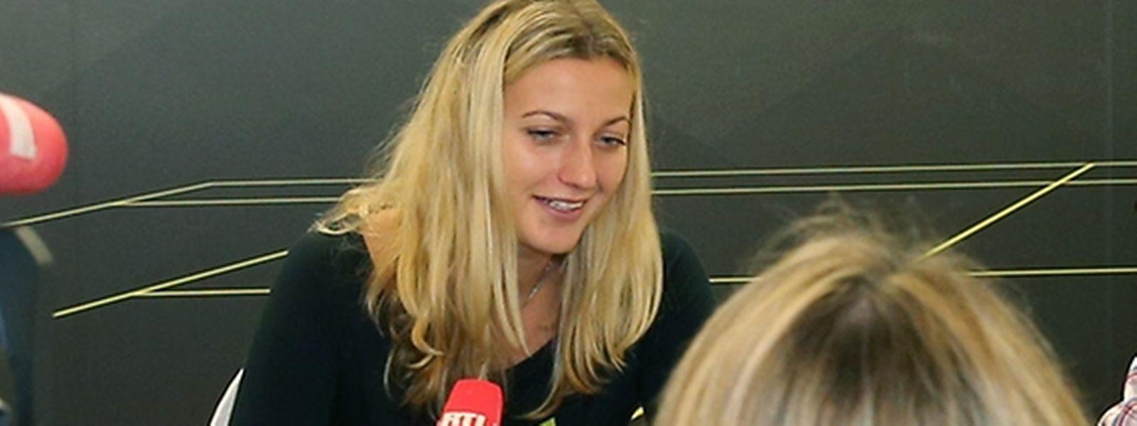 Petra Kvitova im Gespräch mit der Luxemburger Presse.