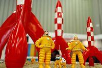 Die Comic-Figuren rund um das Tintin-Universum waren 2018 auf der 69. Internationalen Nürnberger Spielwarenmesse am Stand des deutschen Vertriebs Franko-Belgischer Comic-Produkte Atomax zu sehen.