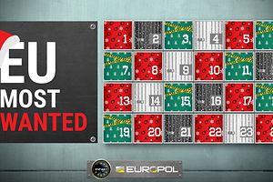 Le calendrier de l'Avent, vu par Europol.