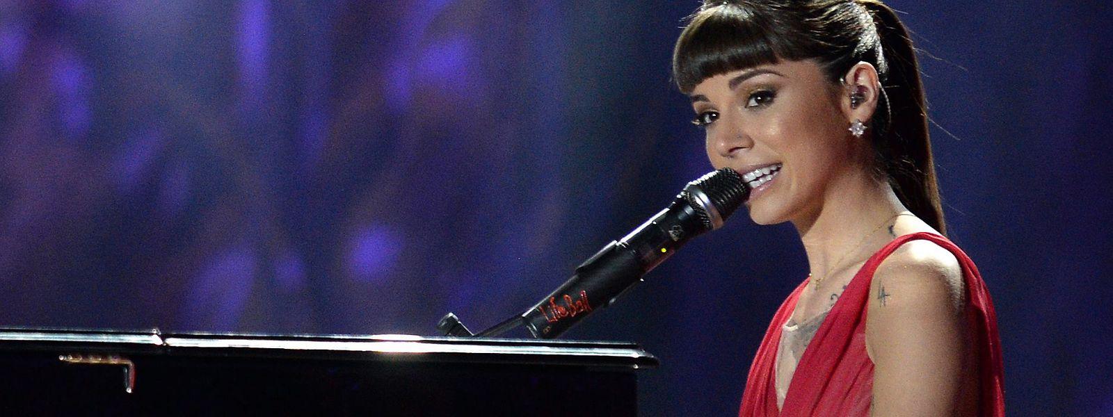 Sängerin Christina Perri bei einem Auftritt im Jahr 2014.