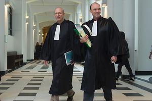 Vertreten die Anklage: der beigeordnete Staatsanwalt Georges Oswald und Substitut Robert Welter (l.).