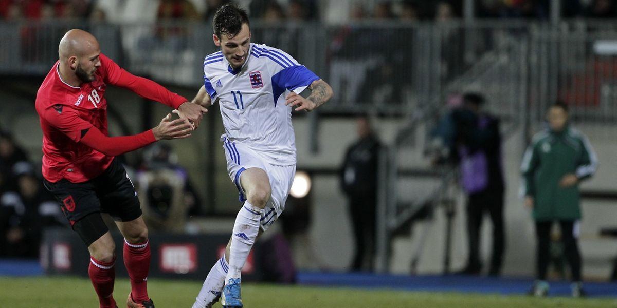 Stefano Bensi fut une des rares satisfactions individuelles côté luxembourgeois, ce mardi en amical face à l'Albanie