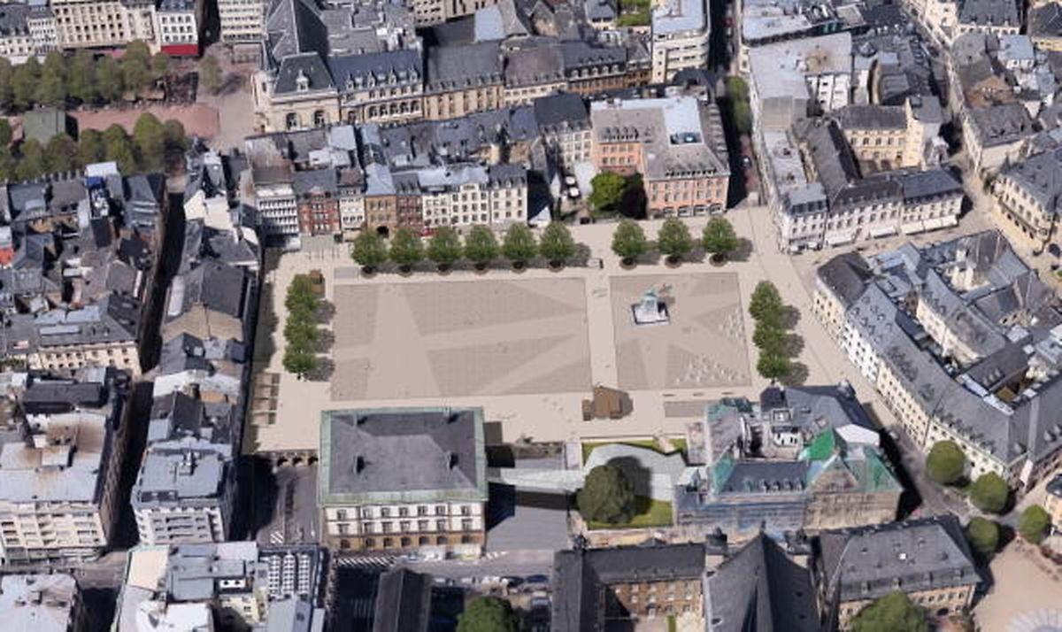 So soll die Place Guillaume II nach der Renovierung des Platzes aussehen.